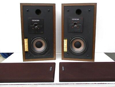 GENESIS PHYSICS I+Frequency Contour Speakers Home Audio Pro Floor Stereo Vtg EUC