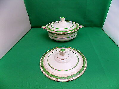 Losol Ware Green / Gold Tureen with Lid + Spare Lid