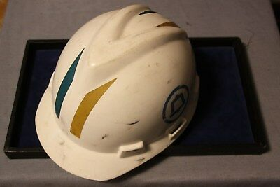 Vintage Southern Bell Telephone Company Lineman Hard Hat w/ reflective insignia'