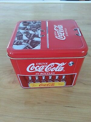 Coca Cola  Tin Container Drink Coca Cola In Bottles Ice Chest Tin