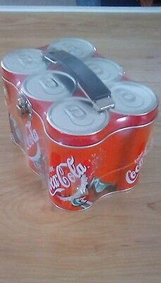 Six Pack Can Coca Cola Tin Lunch Box Factory Sealed Contains Jawbreakers