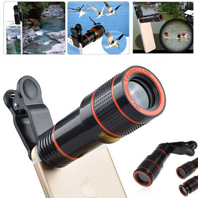 12x/8x Optical Zoom HD Telescope Telephoto Camera Lens+Clip F iPhone Cell Phones