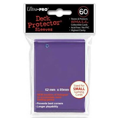 Ultra Pro 60 Small Size Purple Deck Protector Sleeves Fit Yugioh 82971