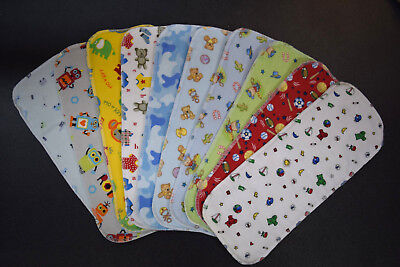 Large Reusable TEN 100% cotton Gdiaper inserts g Diaper liners absorbency pads