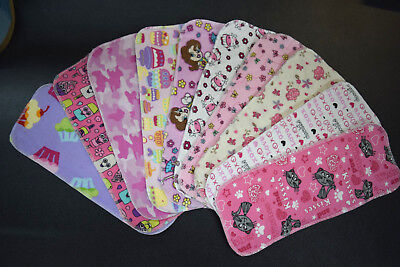 LARGE print TEN WASHABLE cotton Gdiaper inserts g Diaper liners absorbency pads