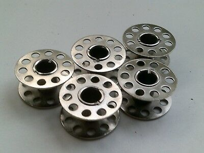 Steel Sewing Machine Bobbins. Pack of 5, 10 or 20. 21mm x 11mm FREE POSTAGE