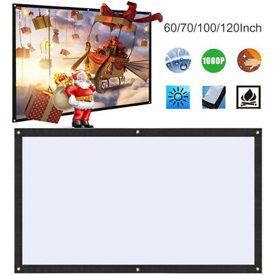 Projection Curtain Movie Screen Soft Portable Polyester 16:9 Home Theater