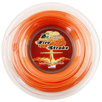 Weiss Cannon Fire Stroke 1.20mm / 17 660ft 200m Tennis String Reel Neon-Orange