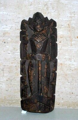 Old Vintage Collectible Rare Wooden Hand Carved Hindu Goddess Statue Putali