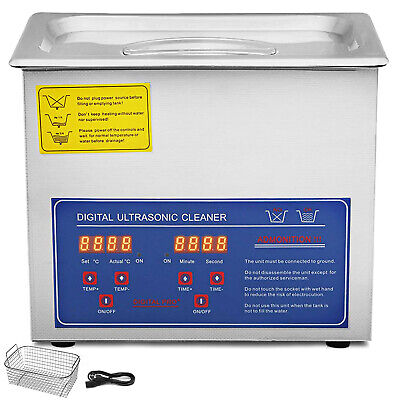 New Stainless Steel 3 Liter 3L Industry Heating Ultrasonic Cleaner W/Heater