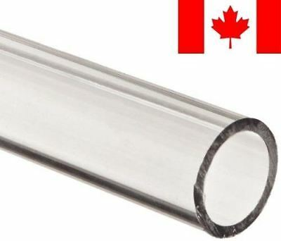 """Polycarbonate Tubing, 1"""" ID x 1 1/4"""" OD x 1/8"""" Wall, Clear Color 24"""" L"""