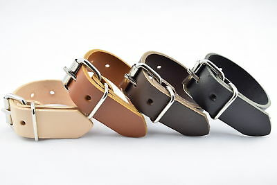 """UTILITY STRAP REAL LEATHER 19mm (3/4"""") HEAVY DUTY NICKEL BUCKLE VARIOUS LENGTHS"""