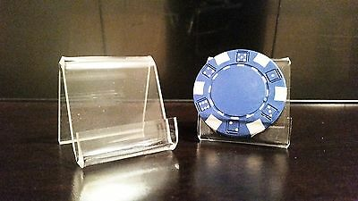 10 Mini Card Display Easel Stands Holders For Casino Poker Chip Chips