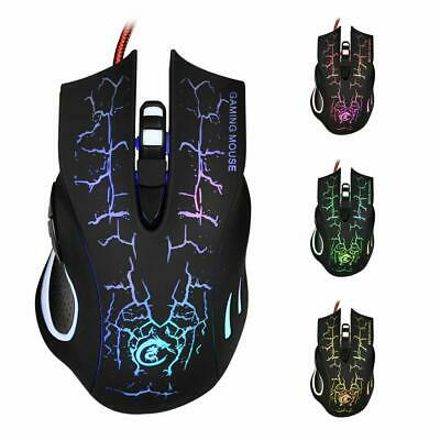 6Button 5500DPI LED Optical USB Wired Gaming Mouse Mice for laptops PC Pro Gamer