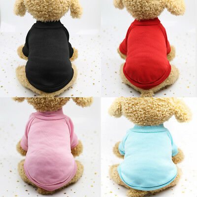 Pet Dog Warm Jumper Sweater Clothes Puppy Cat Cotton Coat Jacket Winter Apparel
