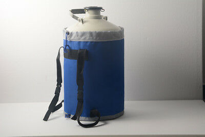 10 L Liquid Nitrogen Tank Cryogenic LN2 Container Dewar with Straps