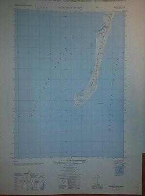 1940's Army top map Monomoy Point Massachusetts (like USGS) 6967 II SE Cape Cod