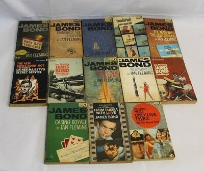 Job Lot 13 James Bond Books printed 1962-73 (Hospiscare)