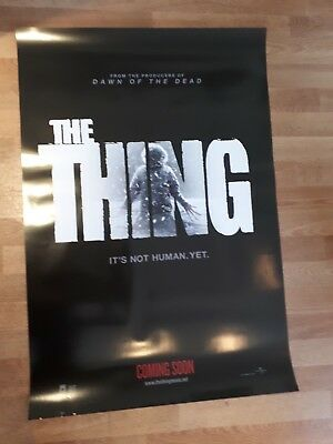 THE THING 2011 cinema one sheet Poster full size ORIGINAL D/S HORROR