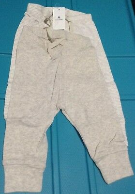 BABY GAP BOYS 2-PACK 1st FAVORITES COTTON CUFFED PANTS 3-6 MONTHS NEW OATMEAL/WH