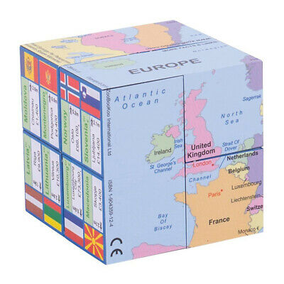 ZooBooKoo Europe Cube Book - Children's European Map Fiddle Toy