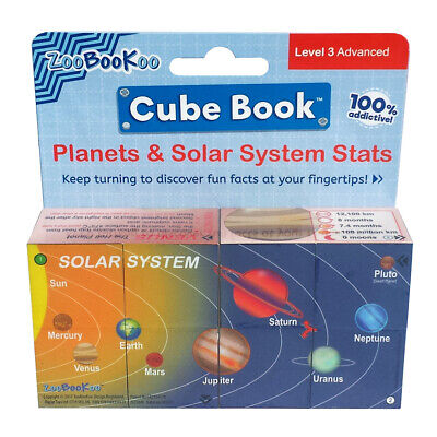 ZooBooKoo Planets & Solar System Cube Book - Children's Space Facts Fiddle Toy