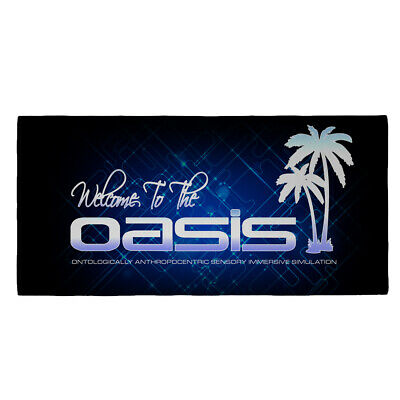 Huge Ready Player One Welcome To The Oasis Bath Towel VR Comicon Cosplay T Shirt