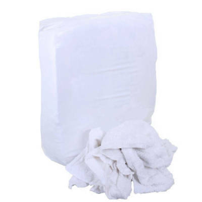 White Towelling Rag x 8kg - Workshop Wipes / Spill Cloths