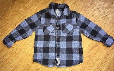 Baby Boy Check Shirt, 18-24 Months, F&F