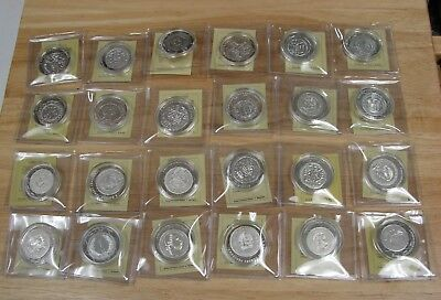 Hungary Restrike .999 Fine Silver Medals - 24-pc Set  - 12.37 Grams Each