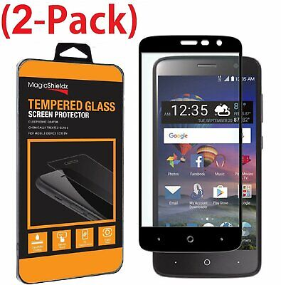 2-Pack Full Coverage 3D Tempered Glass Screen Protector For ZTE ZMax One Z719DL
