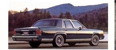 1989 Ford LTD CROWN VICTORIA Brochure / Catalog: LX,COUNTRY SQUIRE Wagon....New!