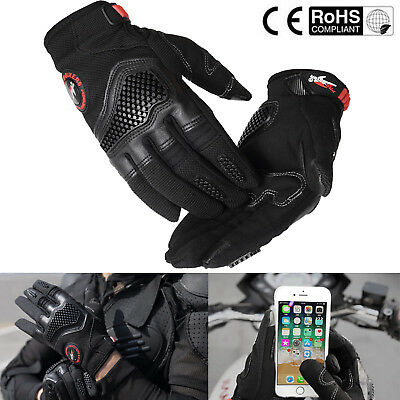 Touch Screen Motorcycle Gloves Summer Bicycle Riding Racing Protective Armor