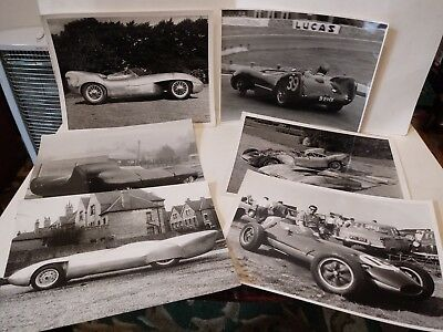 6 Vintage Original B/W Racing Car Photographs,Possibly Lotus,Nice Condition!
