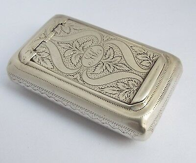 Fine English Antique Georgian 1810 Solid Sterling Silver Snuff Box For Repair