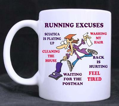 Fishing Excuses funny cartoon novelty coffee or tea mug for that someone special