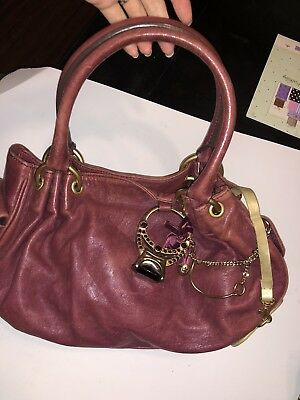 210781e3aba4 Authentic Juicy Couture Red Leather Hobo Slouchy Shoulder Bag Handbag Purse