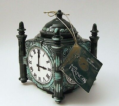 Marshall Fields 100th Anniversary Frango Mint Clock Candy Container w/ Hang Tag