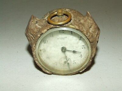 Antique Small New Haven USA Brass Mechanical Wind-Up Novelty Clock Movement