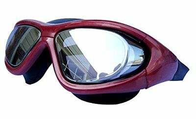 Qishi's Super Big Frame No Press the Eye Swimming Goggles for Adult red