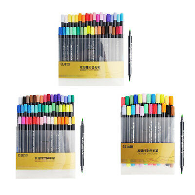 Dual Brush Pen Art Markers Brush & Fine Point Tip for Coloring Book 24/36/48