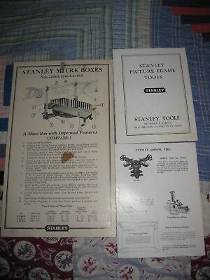 Stanley Mitre Box & Stanley Picture Frame Tools Paperwork