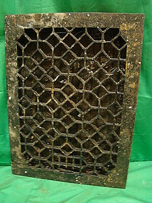 Antique Late 1800's Cast Iron Heating Grate Unique Ornate Design 16 X 12  Jbh