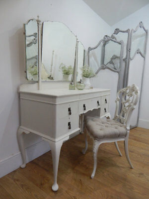 Antique dressing table and stool