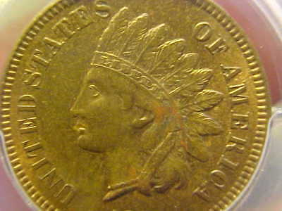 1873 Double Liberty Indian Head Cent Rare Error Pcgs Genuine Cleaned Unc Details