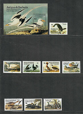 Barbuda Sc#705-713 M/NH/VF, Complete Set, Birds, Cv. $171.25