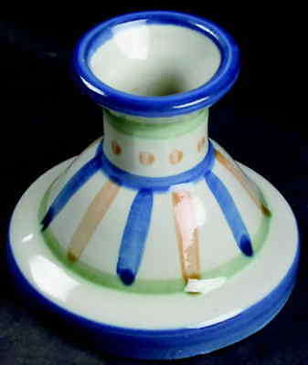 M A Hadley COUNTRY SCENE BLUE Candlestick Holder 7000327