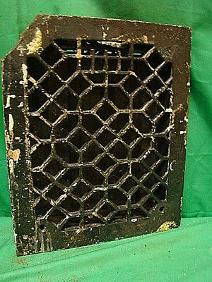 ANTIQUE LATE 1800'S CAST IRON HEATING GRATE ORNATE DESIGN 11.75 x 9.75 DCV