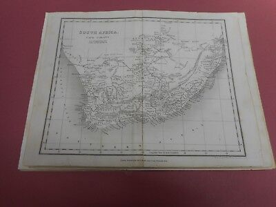 100% Original Cape Colony South Africa Map By Orr/dower  C1828 Vgc Low Start