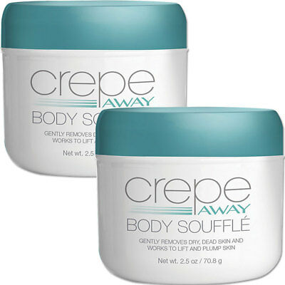 NEW (Set/2) 3 Ounce Dermactin-TS Crepe Away Body Souffle Helps Smooth Aging Skin